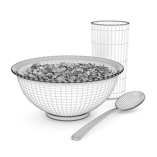 musli in bowl 3d model max obj mtl fbx c4d 1