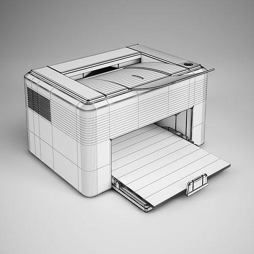 Laser Printer 16 3d Model Max Obj Fbx C4d