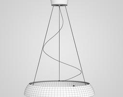 Chrome Hanging Lamp 02 3D model