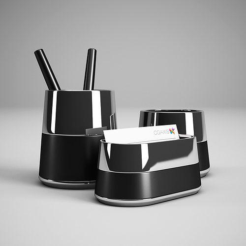office desk accessories 28 3d model max obj mtl 3ds fbx c4d 1