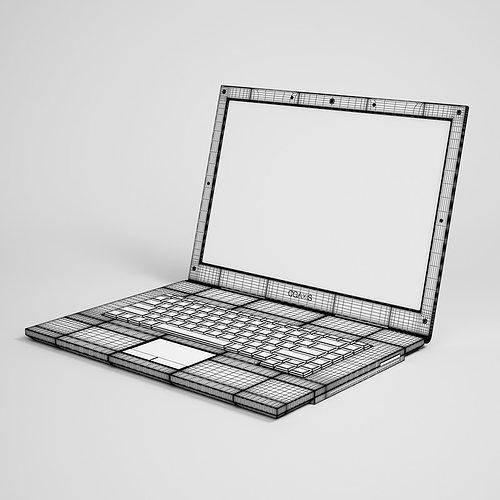 laptop computer 11 3d model max obj fbx c4d 1