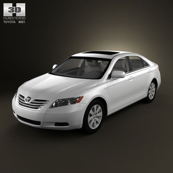 toyota camry xv40 2008 with hq interior 3d model max obj. Black Bedroom Furniture Sets. Home Design Ideas