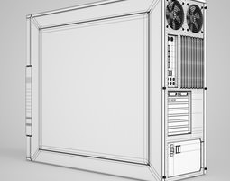 CGAxis PC Case 3D model