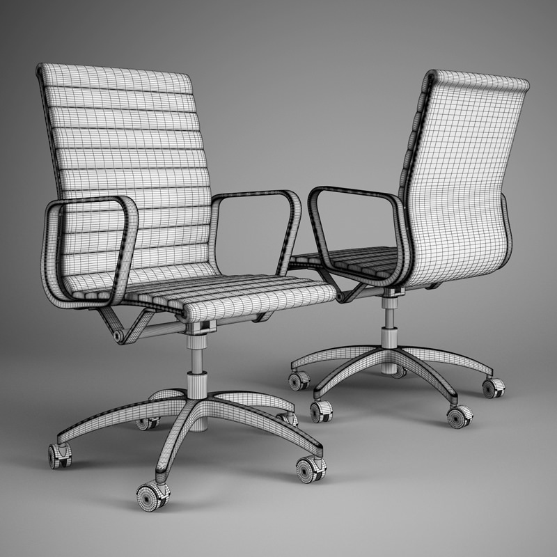 Office Chair Model Max Obj Fbx C4d 2
