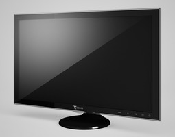 CGAxis LCD Monitor 2 monitor 3D model