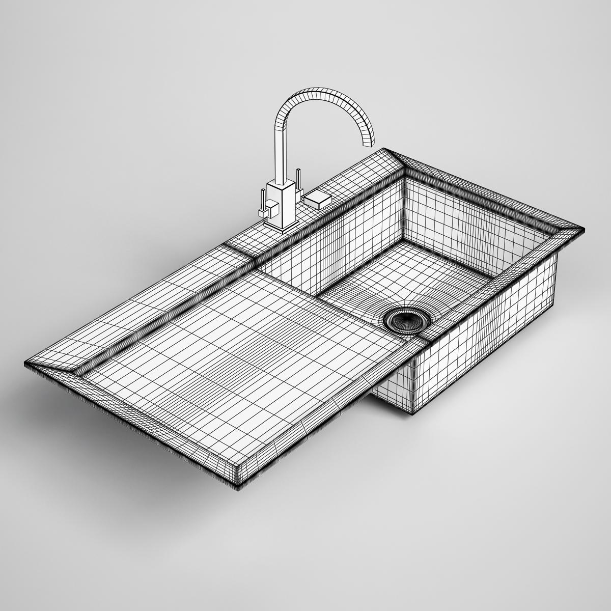 ... Kitchen Sink 24 3d Model Max Obj Fbx C4d 2