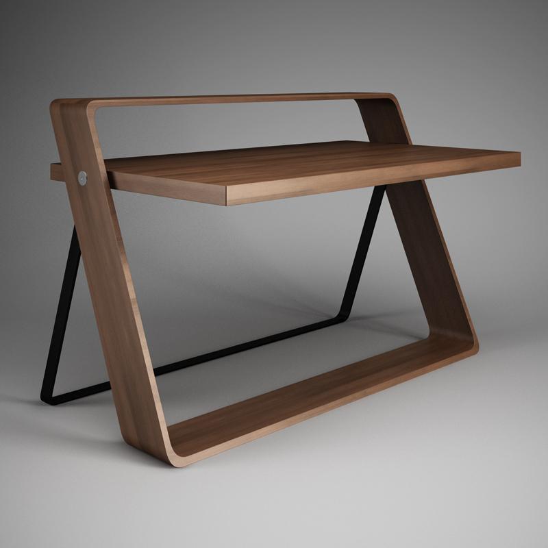 Minimalistic Office Desk 31 3D model MAX OBJ FBX C4D