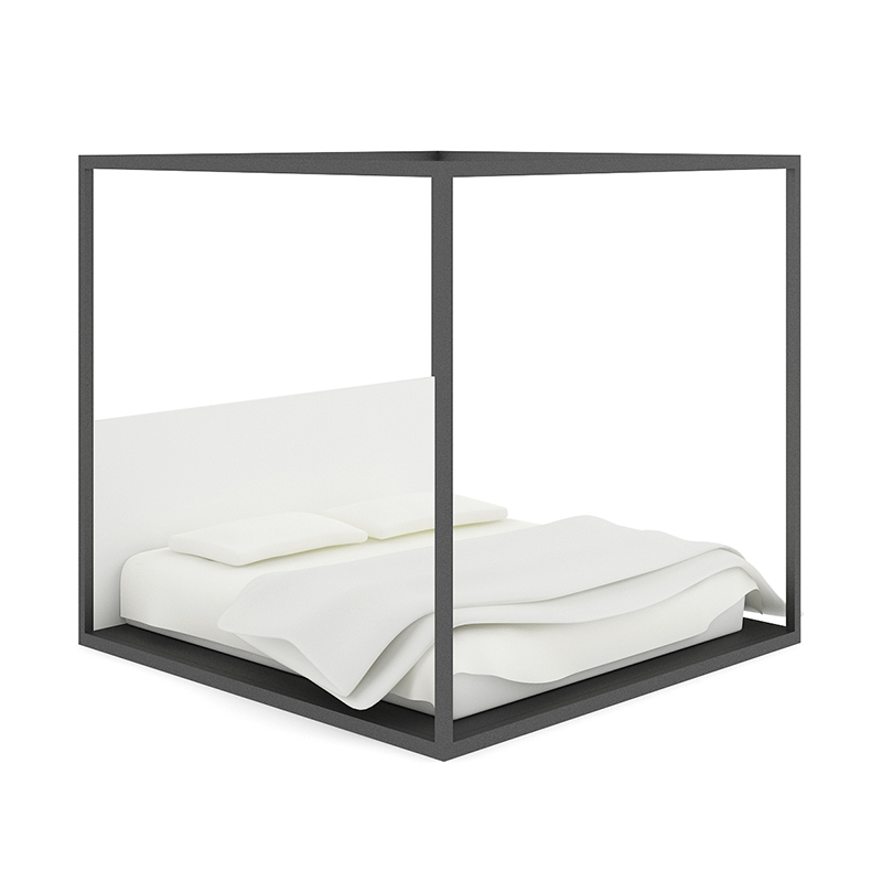3d Four Poster Black Bed Cgtrader