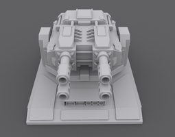 laserturret 3d asset game-ready