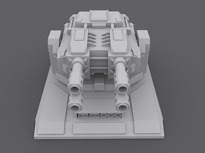 laserturret 3d model low-poly max 1