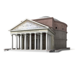 3D model Pantheon in Rome Italy