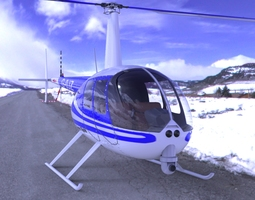 News Helicopter for Poser 3D model