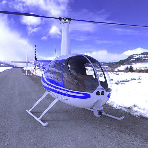 news helicopter for poser 3d model obj mtl pz3 pp2 1