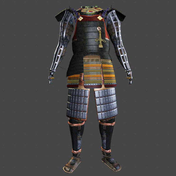Samurai Armor Black Ornate