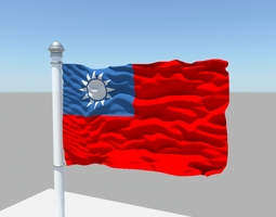 3d model taiwan flag