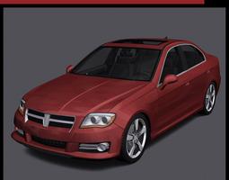 realtime generic car - d segment 3d asset