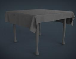 simple table 3D asset