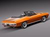 1969 pontiac gto convertible 3d model max 3ds fbx c4d lwo lw lws mtl 6