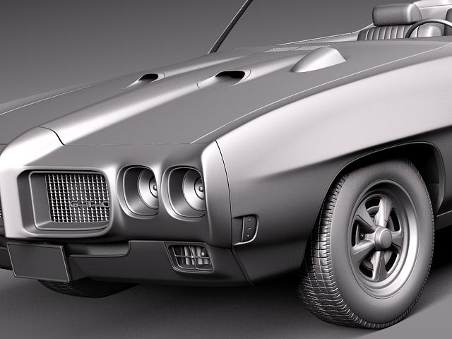 1969 pontiac gto convertible 3d model max 3ds fbx c4d lwo lw lws mtl 12