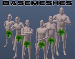 3d rigged male basemesh pack