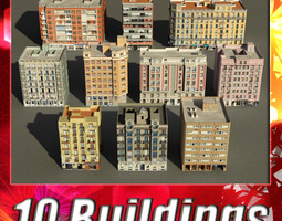 Building Collection 81 - 90 3D Model