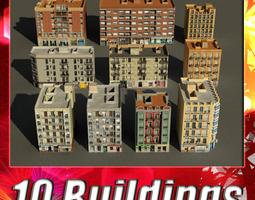 building collection 91 - 100 realtime 3d asset