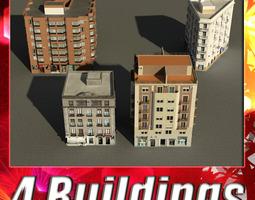 Building Collection 5-8 3D asset