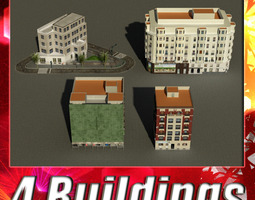 3D model Building Collection 25-28