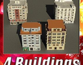 3D model Building Collection 33-36
