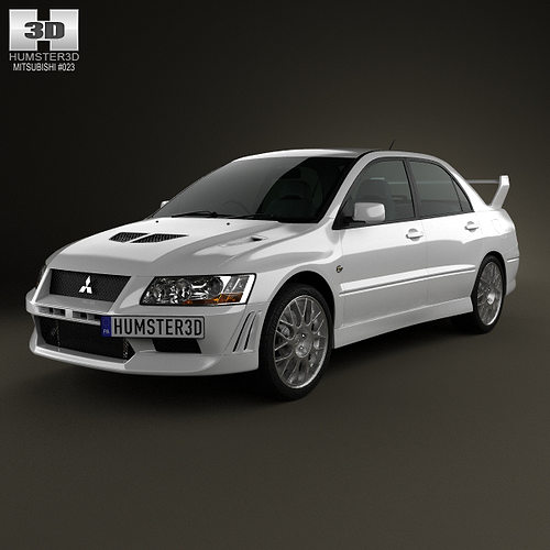 Mitsubishi Sports Car List: 3D Mitsubishi Lancer Evolution 2001
