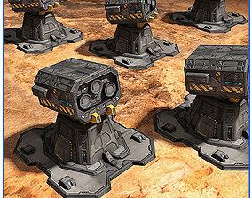 3D model SciFi Base Defense Tower FREE Pack 03