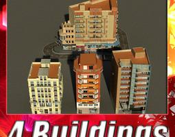 3D asset Building Collection 49-52