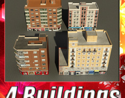 3D asset Building Collection 73-76