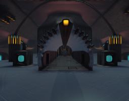 sci-fi dome - big room 3d model obj 3ds mtl