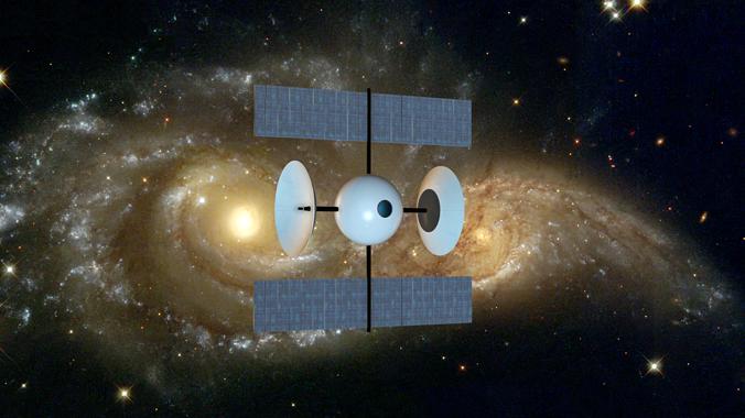 space probe ii 3d model obj mtl 3ds 1