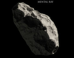 realtime 3d model asteroid animated