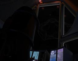 animated 3d asset VR / AR ready space shuttle cockpit