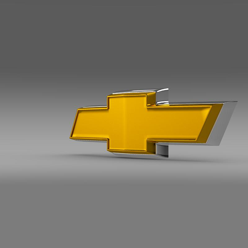 Chevrolet New Logo 3d Model Cgtrader