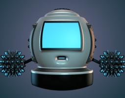 robot 3d model obj 3ds mtl