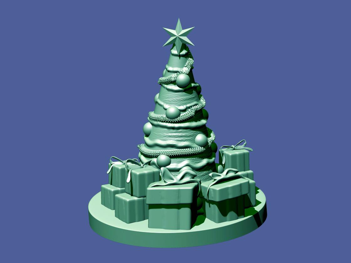3d Christmas Tree.Christmas Tree 3d Print Model