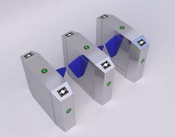 3D model Security Barrier