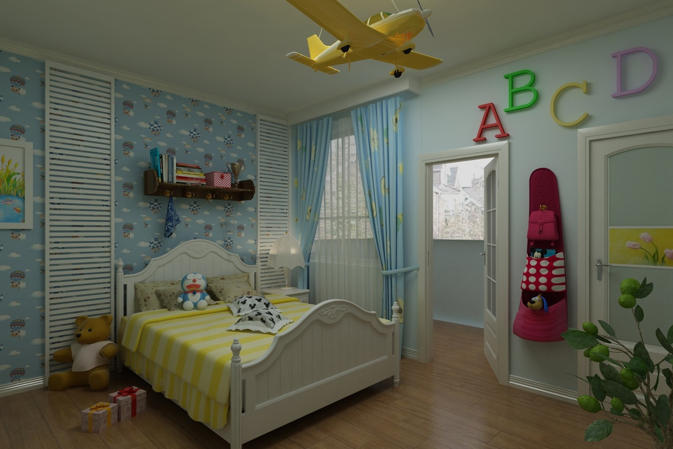 Kids Bedroom 3d Model bed room models | kts-s
