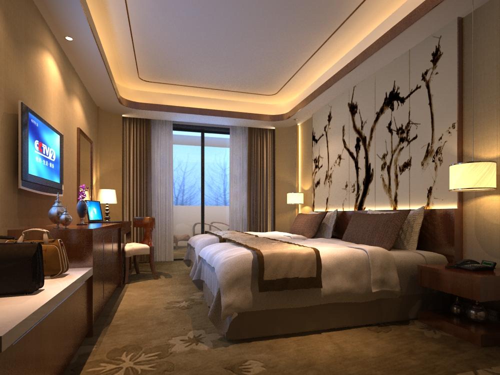 Modern Cozy Bedroom 3D Model MAX