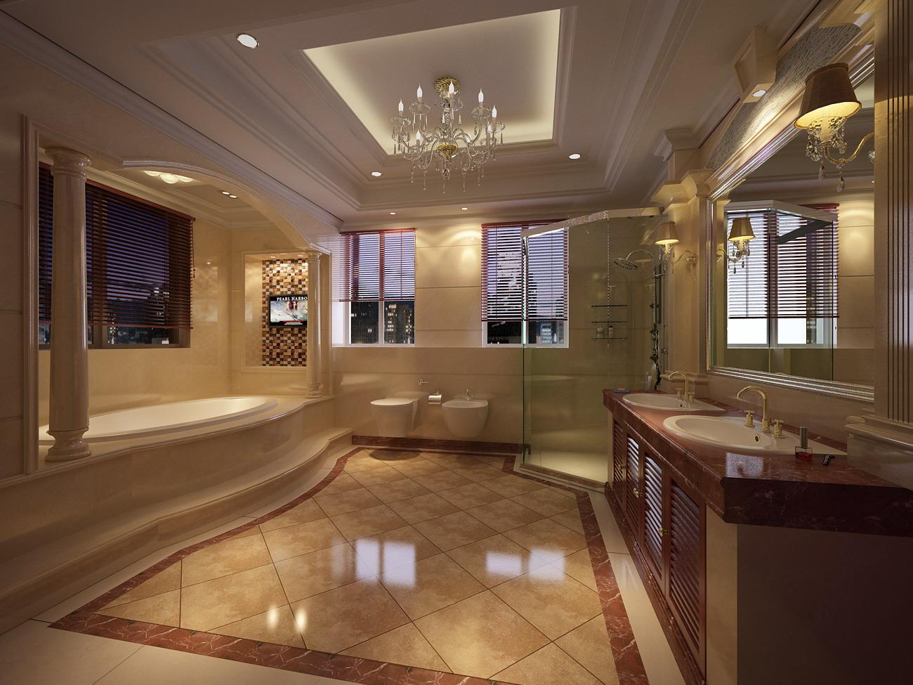 Marble Bathroom Floors. Marble Bathroom Floors Luxurious With Floor Model  Cgtrader Modern Ideas