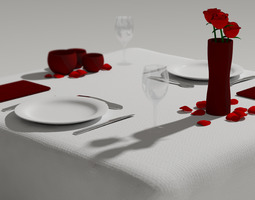 table for two 3d model mtl