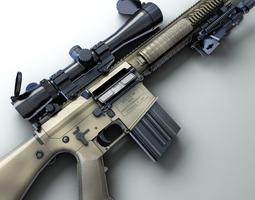 M110 SASS Hi-Res 3D Model
