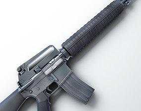 3D M16 Assault Rifle Hi-Res