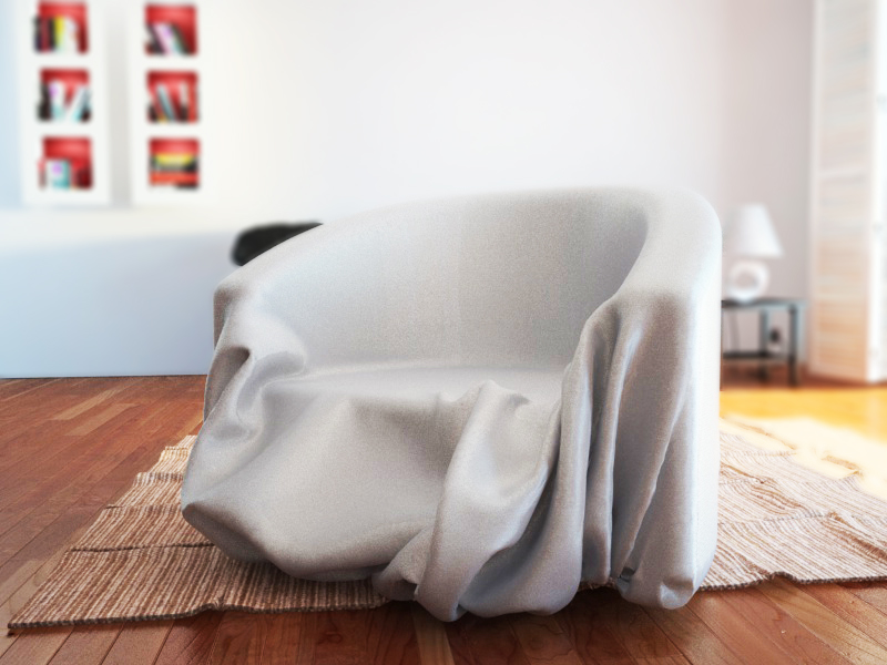 Chair Covered With Cloth 3d Model C4d 1 ...