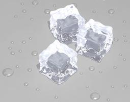 Ice cubes 3D