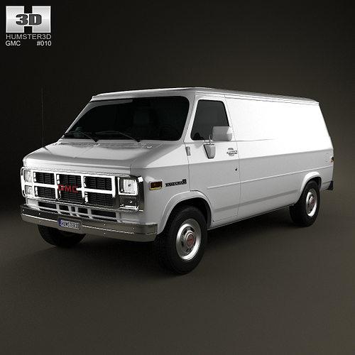 3D GMC Vandura Panel Van 1992